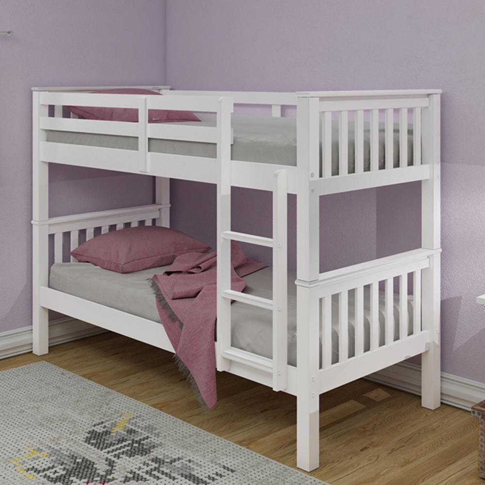 Shop Beds Online: Nevada Bunk Bed White Inc 2 X Spring Plus Mattresses